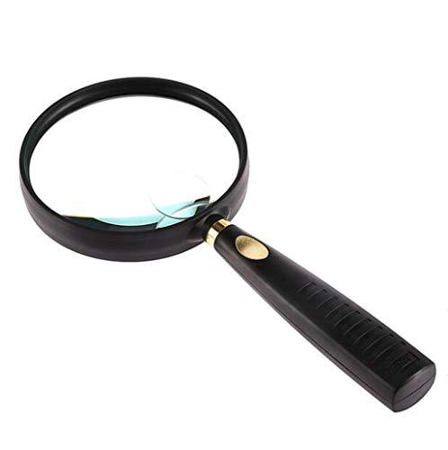 DAFREW Lupe, Klassische Handlupe (7X), Stahl Hals und Felge.Hochwertige Echtglaspräzisionslinse Makuladegeneration Lesehilfe Puzzle und Hobby Lupe for einige Vision oder jemand.
