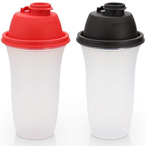 Signoraware Botellas de coctelera | 17 oz botella de plástico para batidos de reemplazo de comidas y batidos, bebidas, mezcla de aderezo y salsas, Margarita, más | 2 unidades