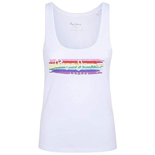 Pepe Jeans Bayard Camiseta, Blanco (White 800), X-Large (Tamaño del Fabricante: XL) para Mujer