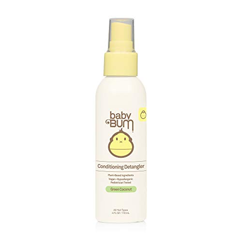 Baby Bum Conditioning Detangler Spray | Leave-In Conditioner Treatment with Soothing Coconut Oil, Natural Fragrance, Gluten Free and Vegan, 4 FL OZ, Packaging may vary