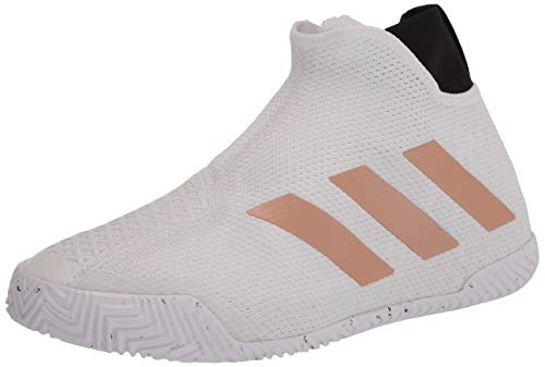 adidas Men's Stycon Tennis Shoe, White/Copper/Black, 5