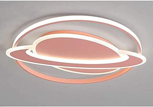 LED Techo Luz Planeta Tierra Nursery Lámpara Iluminación para niños Luces para el dormitorio Contemporáneo Cambiando-Brillo Playoms Childroom Kids Chandelier Lamplemder, Rosa, 52cm36w