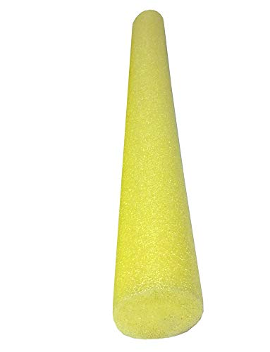 Solid Core Deluxe Foam Pool Swim Noodles - Single Yellow 55 inches Length