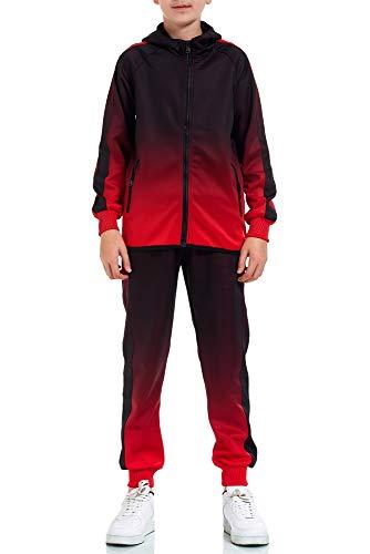 XRebel Kinder Junge Jogginganzug Sportanzug Modell W32 (Rot, 128-134(10))
