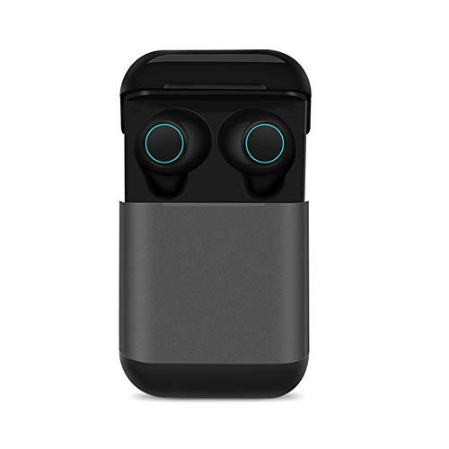 TWS Wireless Bluetooth 5.0 Kopfhörer Ohrhörer, Creamon TWS Wireless Bluetooth 5.0 Kopfhörer Ohrhörer mit Ladekiste Bluetooth Kopfhörer Stereo Headset Kopfhörer grau