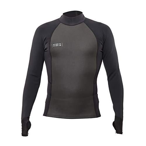 WETSOX Multi-Season Wetsuit Baselayer Shirt and Rashguard- 1MM Neoprene Insulation and 50+ UPV Black