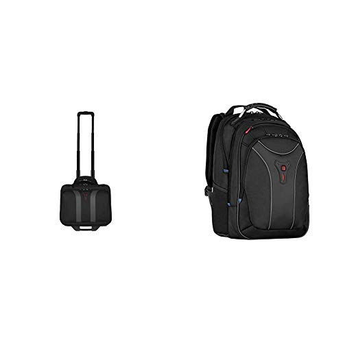 Wenger 600659 Granada 17-Zoll-Rad-Laptop-Tasche, 42 x 35 x 25 cm (B x H x T), 24 Liter & 600637 Carbon 17