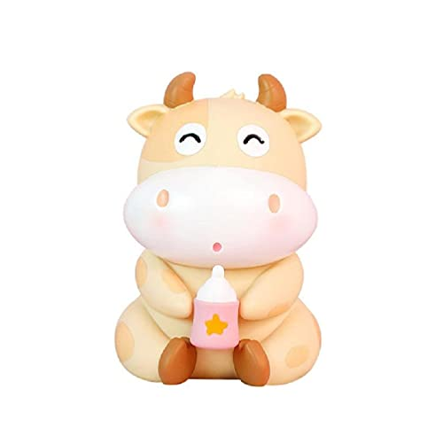 AIYIYOO Cute Cattle Cow Piggy Bank Caja de Monedas Olla para Ahorrar Dinero 2021 Año del Zodiaco Chino Adorno de Buey para niños Regalo de guardería Decoraciones para el hogar para el Dormitorio