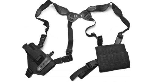 Find Discount Elite Survival Systems ELSMASH12-B Modular/Ambidextrous Shoulder System: 2 Vertical Single Harness & Tie-Down Holster,Size 12, Black