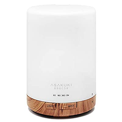 ASAKUKI 300ML Essential Oil Diffuser, Quiet 5-in-1 Premium Humidifier, Natural Home Fragrance Aroma Diffuser with Auto-Off Safety Switch