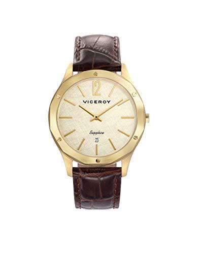 Viceroy Reloj Analogico para Hombre de Cuarzo con Correa en Cuero 471127-95