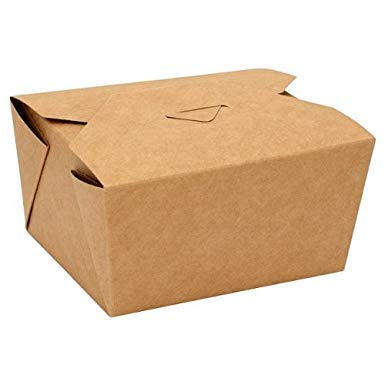 50 Pcs + 5 Exta - Food Boxes #1 - Biodegradable Brown Takeaway Cardboard Fast Food Box - 26oz (55) Eco Friendly 55 x Kraft Leak-Proof Brown Leakproof Deli Food Containers