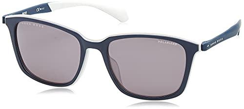 Hugo Boss Boss 1140/F/S, Gafas de Sol Hombre, Matte Blue Grey, 56