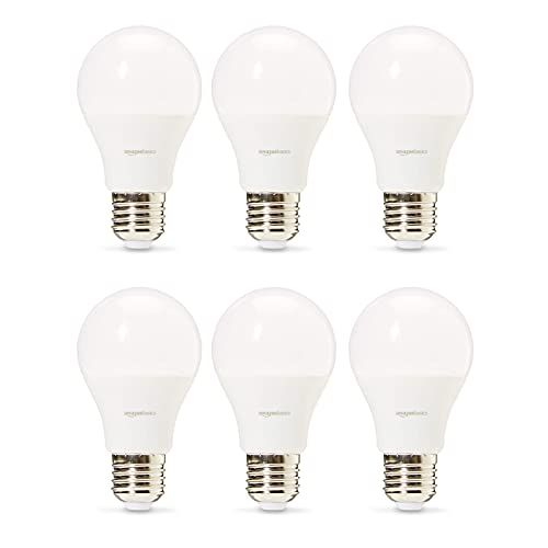 Amazon Basics Professional - Bombilla de tipo Edison LED, casquillo E27, equivalente a 75W, blanco frío - juego de 6