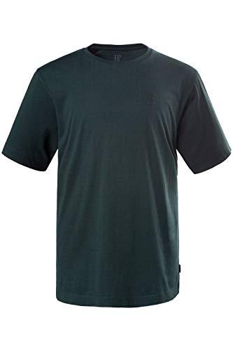 JP 1880 Herren große Größen bis 8XL, T-Shirt, JP1880-Motiv auf der Brust, Basic-Shirt, Rundhalsausschnitt, Reine Baumwolle, dunkelgrün 5XL 702558 40-5XL