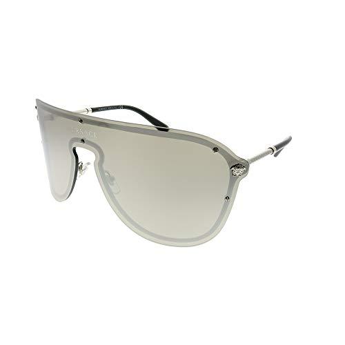 Versace VE2180 Silver/Light Grey Mirror Silver Sunglasses