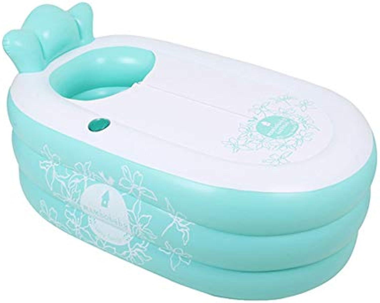 150  85cm aufblasbarer Swimmingpool für Erwachsene Baby Dicke Faltbare persnliche Airbag weiche und Bequeme Hauptreiverschlussisolierungsbadewanne (Farbe   Grün)