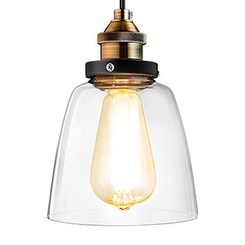 Lightess Lámpara Colgante de Techo Vendimia LED Industrial de Iluminaciones Retro Aplique Antiguo