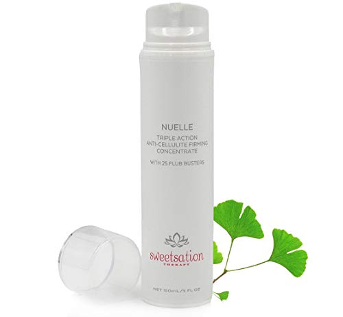 NuElle Triple Action Anti Cellulite Concentrate, with Caffeine, L'Carnitine, CoQ10, Seaweed+; 25 Best Cellulite Fighting ingredients, 5oz. Firming, toning, hydrating.