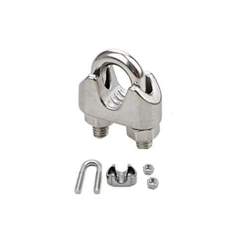 Toirxarn 5mm 12pcs morsetti per funi metalliche imbracature in acciaio inossidabile 304 rigging M2 / M3 / M4 / M5 / M6 / M8 / M10 / M12 disponibili-M5(5mm)