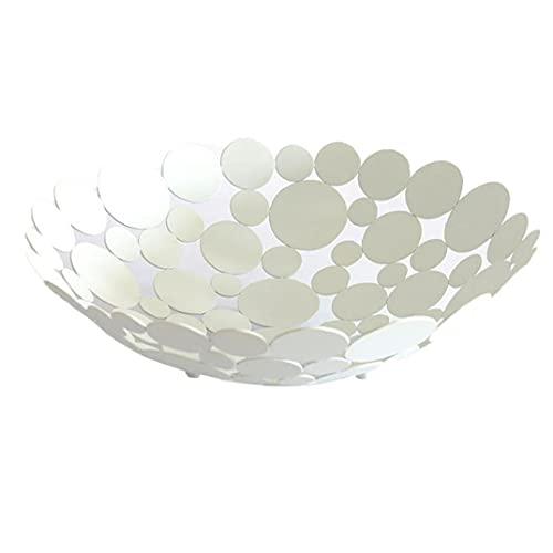 jieerrui Metal Fruit Basket Fruit Holder for Vegetable Bread White