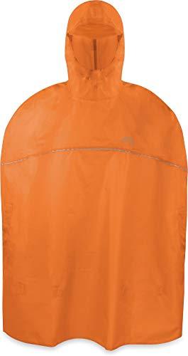 normani Outdoor Sports Kinder Regenponcho für Jungen und Mädchen mit Kapuze und 3M™ Scotchlite™ Reflektoren Farbe Orange