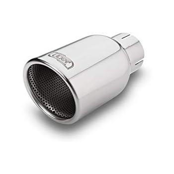 KSTE Auspuff Endrohr Auto-/Änderung Universal-54mm Inlet-89mm Outlet Bevel Auspuff Endrohre hinteres Endst/ück Throat