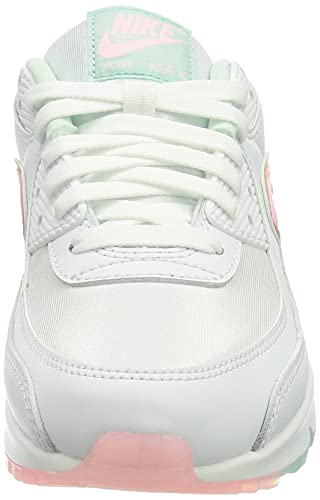 Nike Wmns Air MAX 90, Zapatillas Deportivas Mujer, White Barely Green Light Dew Arctic Punch, 39 EU