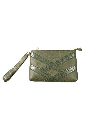 Smash! BALSAMO, Cartera de mano con asa para Mujer, Verde (Army), 1.5x18x28...