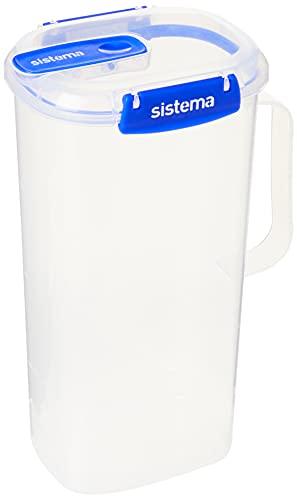 Sistema KLIP IT PLUS Juice Jug | Airtight 2 Litre Plastic Jug for Milk, Water & More | BPA-Free