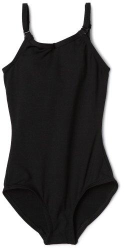Capezio Little Girls' Camisole Leotard W/ Adjustable Straps,Black,I ( 6-8)