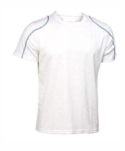 Asioka 75/09N Camiseta de Manga Corta, Unisex niños, Blanco/Royal, XS (12-14)