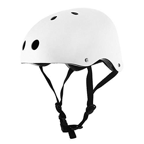 Gifftiy Casco MTB Hombre 3 Sizes Round Mountain Bike Helmet Men Sports Accessories Cycling Helmet Strong Road Helmet MTB Bicycle Helmet-White_M
