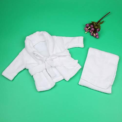 Accesorios de fotografía para bebés, color blanco, para niños niñas,(3-6 months)