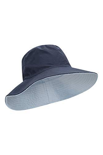 Mountain Warehouse Chapeau à Bord de Womens réversible - Chapeau de Soleil léger, Respirant, Conception réversible - pour Le Printemps Bleu Taille Unique