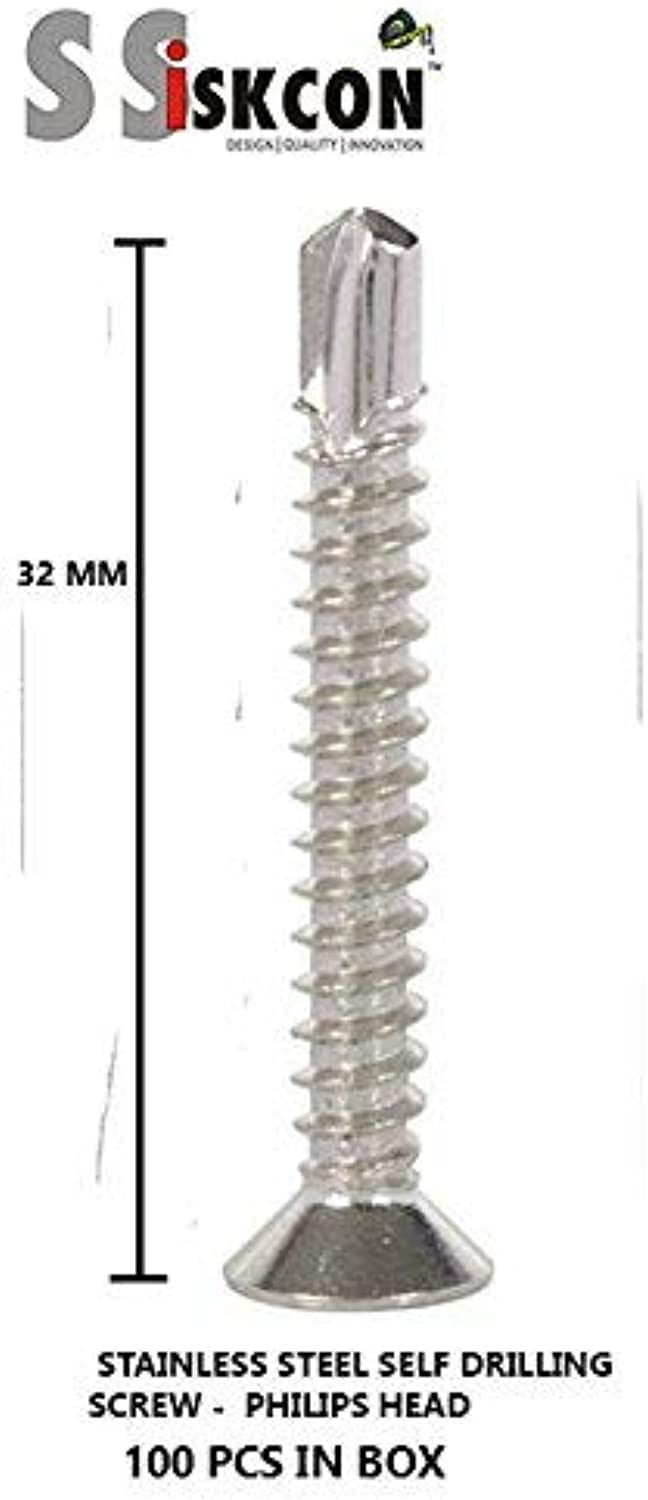 100% Stainless Steel SELF Drilling Screw 8 X 32 (100PCS.) Complete Count))