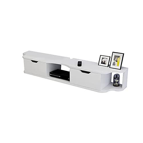 Väggmonterad TV-stativ set-top box, vardagsrum TV-skåpkonsol, 120cm / 140cm underhållningskontrollcenter, lämplig för sovrum/vardagsrum/hotell (Color : B, Size : 120cm)