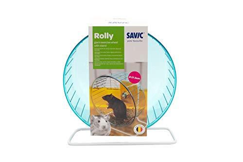 Savic Roue d'exercice et Support Rolly Giant Diamètre 27,5 cm