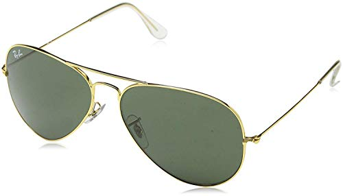 Ray Ban RB3025 AVIATOR LARGE METAL 181 62M Gold/Gray Green Sunglasses For Men For Women