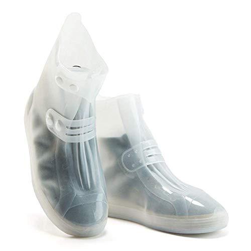 Lixada couvre-Chaussure Impermeable en Plein Air Equitation–Cubrezapatillas MTB montaña Unisex couvre-Chaussure, Blanco, XXL