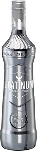 Platinum Gorbatschow Wodka Premium Wodka a 700ml in der limitierten Premium Silbernen Flasche Platinum Filtered