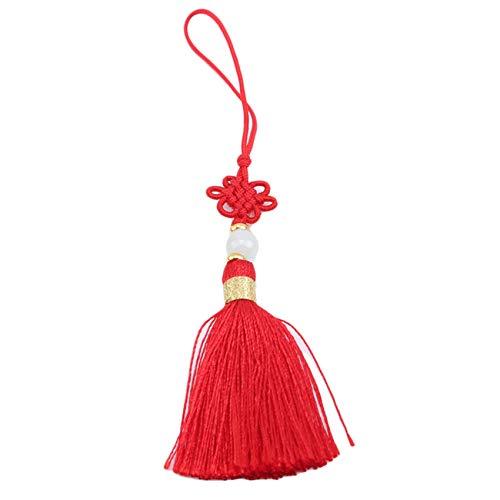 Growrak - Juego de llavero para hacer nudos chinos para anillos de salto, color rojo
