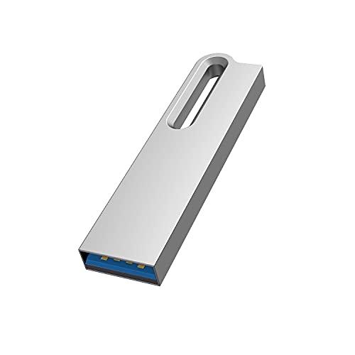 KOOTION 64GB USB Stick USB 3.0 Speicherstick Metall Wasserfest Schlüsselanhänger Memory Stick 64 GB USB-Flash-Laufwerk USB Flash Drive Datenspeicher Stick 64G USB3, Silber