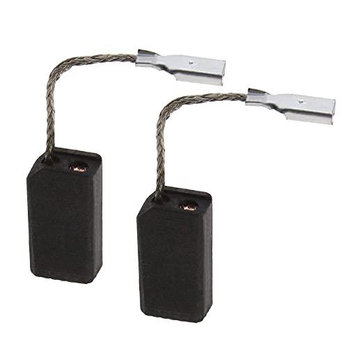 Par de cepillos de carbono E64, 15 x 8 x 5 mm, 1619P11715, compatible con Bosch GWS 750 GWS 750 S GWS 750-115