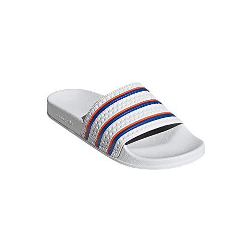 adidas Chanclas Adilette, color Blanco, talla 40.5 EU