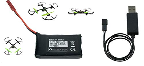 Sky Viper V2400HD V2450FPV V2450GPS Scout Journey Drones Compatible Battery 3.7v 1200mAh High Capasity and Charger Set