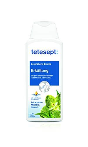 tetesept Erkältung Duschgel, Bringt spürbare Erleichterung der Erkältungssymptome, Befreit die Atemwege mit Eukalyptusöl & Kampfer, Intensiver Duft durch natürliche Wirkstoffe, 5x250ml