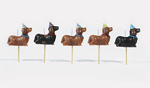 Smiling Faces Dachshund Sausage Dog Birthday Cake Party Candles