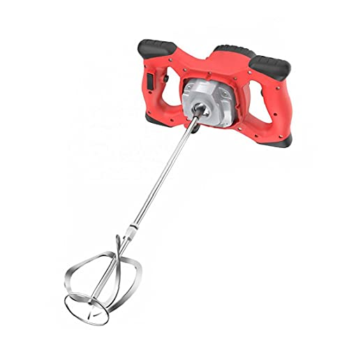 Cemento Hormigón Yeso eléctrica portátil Taladro herramienta de agitación del mezclador eléctrico 2100W Mortero Mezclador Rojo