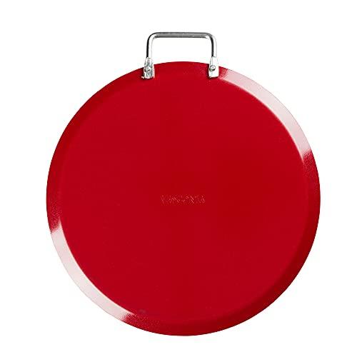 Comal de 26 cm Vasconia Color Rojo, Hecho de Aluminio con Antiadherente de Alto Rendimiento